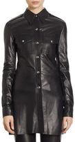 Calvin Klein Leather Button Front Jacket