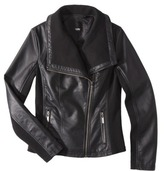 Mossimo Women's Faux Leather Moto Jacket -Black