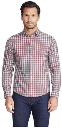UNTUCKit Wrinkle-Free Flannel Sauris Shirt (Red) Men's Clothing