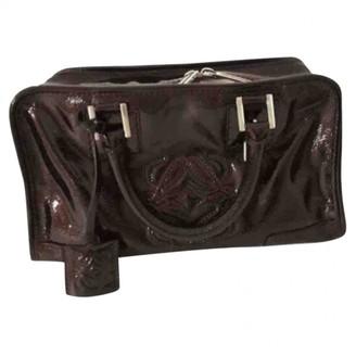 Loewe Amazona Burgundy Patent leather Handbags