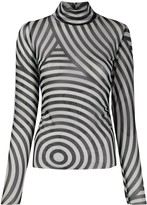Henrik Vibskov roll neck striped top