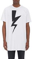 Neil Barrett Men's Bolt-Print Cotton T-Shirt-WHITE, BLACK