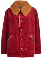 Marc Jacobs Corduroy Jacket with Textured Collar