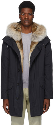 Yves Salomon Army Army Navy Down Fur-Lined Parka