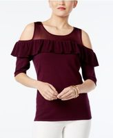 INC International Concepts Cold-Shoulder Illusion Sweater, Created for Macy's