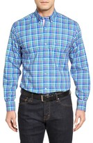Tailorbyrd Men's Plum Check Sport Shirt
