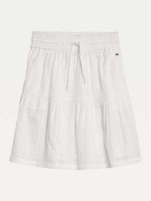 Tommy Hilfiger Pure Cotton Embroidery Skirt