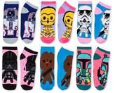 Star Wars Women's 6 Pair pk Low-Cut Socks - Pink 9-11