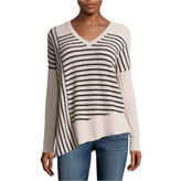A.N.A a.n.a Long Sleeve V Neck Pullover Sweater-Talls
