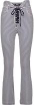 Just Cavalli Striped cotton-blend straight-leg pants