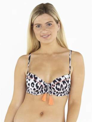 M&Co Beachcomber tie front underwire bikini top