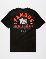 FAMOUS STARS & STRAPS Live Free Mens T-Shirt