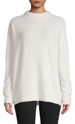 Lord & Taylor Rib-Knit Cashmere Mockneck Sweater