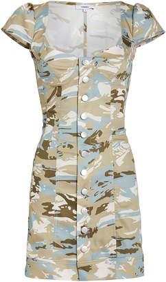 Miaou Gigi Camo-Print Mini Dress