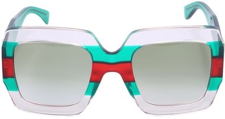 Gucci Pop Web Square Acetate Sunglasses