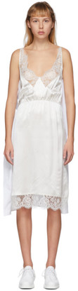 MM6 MAISON MARGIELA White Back Panel Slip Dress