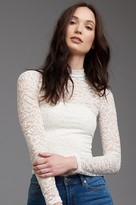 Dynamite Lace Mock Neck Top