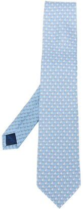 Salvatore Ferragamo Weather Vane Printed Silk Tie