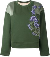 Ssheena - floral appliqué sweatshirt - women - Cotton - S