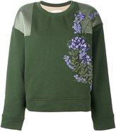 Ssheena floral appliqué sweatshirt