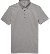 Lanvin - Slim-fit Grosgrain-trimmed Cotton-piqué Polo Shirt