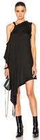 Ann Demeulemeester Off the Shoulder Tunic in Black.