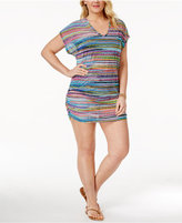 Anne Cole Plus Size Mesh Cover-Up Tunic