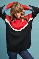Alba Moda Wool Colorblock Pullover