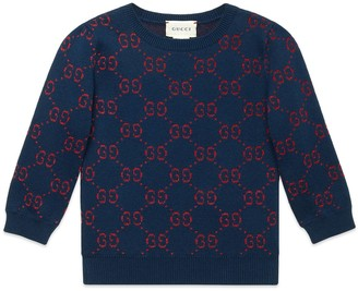 Gucci Children's GG cotton lame jumper
