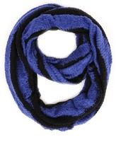 Paula Bianco Stripes Infinity Scarf Black/Royal