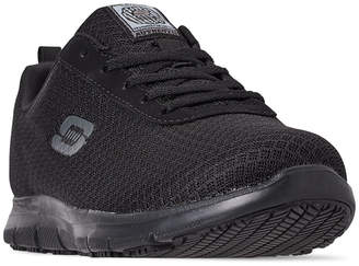Skechers Women Work Relaxed Fit: Ghenter - Bronaugh Slip Resistant Wide Width Athletic Work Sneakers from Finish Line
