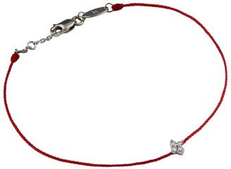 Redline White Diamond Shiny String Bracelet