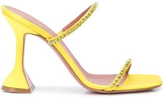 Amina Muaddi Gilda 95mm open toe sandals