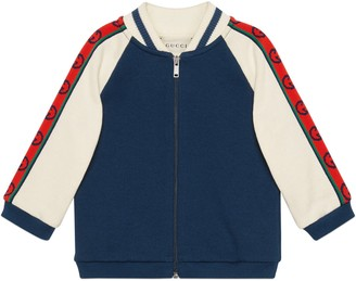 Gucci Baby cotton sweatshirt with InterlockingG