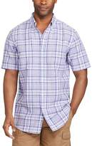 Chaps Big & Tall Classic-Fit Plaid Linen-Blend Button-Down Shirt