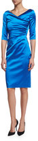Talbot Runhof Colly Half-Sleeve Cocktail Dress, Imperial Blue