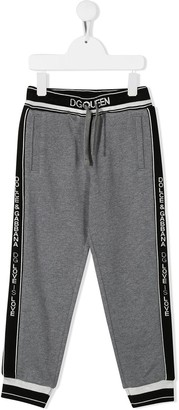 Dolce & Gabbana Kids Logo Waistband Trousers