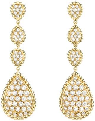 Boucheron Yellow Gold and Diamond Serpent Boheme Drop Earrings