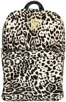 Roberto Cavalli Leopard Printed Nylon Canvas Backpack