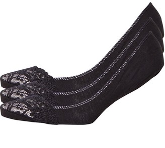 S.O.H.O New York Womens Collection Three Pack Lace Footsies Black