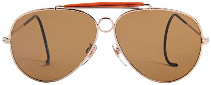 American Apparel Vintage Aviator Cop Sunglasses