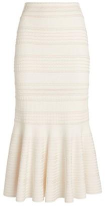 Alexander McQueen Knitted Midi Skirt
