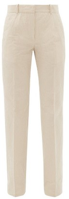 Pallas Paris - Giacomo Seersucker-cotton Straight-leg Trousers - Beige Stripe