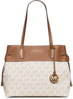 MICHAEL Michael Kors Marina Large East-West Drawstring Tote Bag, Vanilla