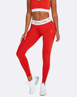 Nicky Kay - Women's Red Compression Bottoms - FitGlam Compression Tights - Size One Size, XS at The Iconic
