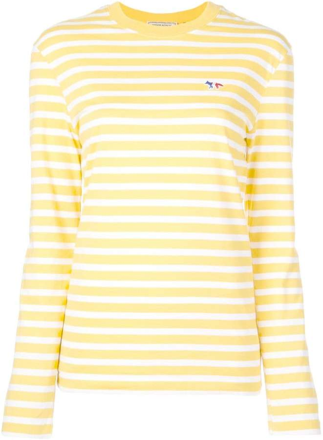 e1f6d2fd2a46 Womens Yellow Striped Cotton Shirt - ShopStyle
