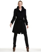Ellen Tracy Single Breasted Fit and Flare Coat
