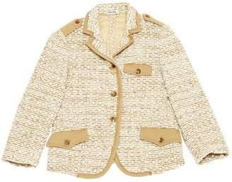 Miu Miu Beige Tweed Jackets