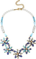 JCPenney BLEU NYC Bleu Blue Stone Flower Statement Necklace