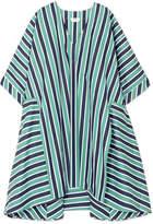 Fendi Striped Cotton-poplin Kaftan - Green